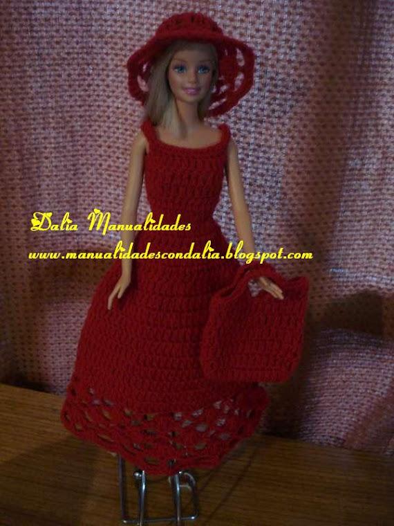 vestido rojo barbie