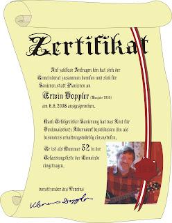 Denkmalschutz Zertifikat