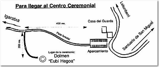 Mapa  de acceso a Eubi Hegoa