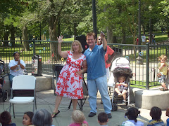 Andrea telling at Boston Common With TV's ch5 Ed Harding Boston !