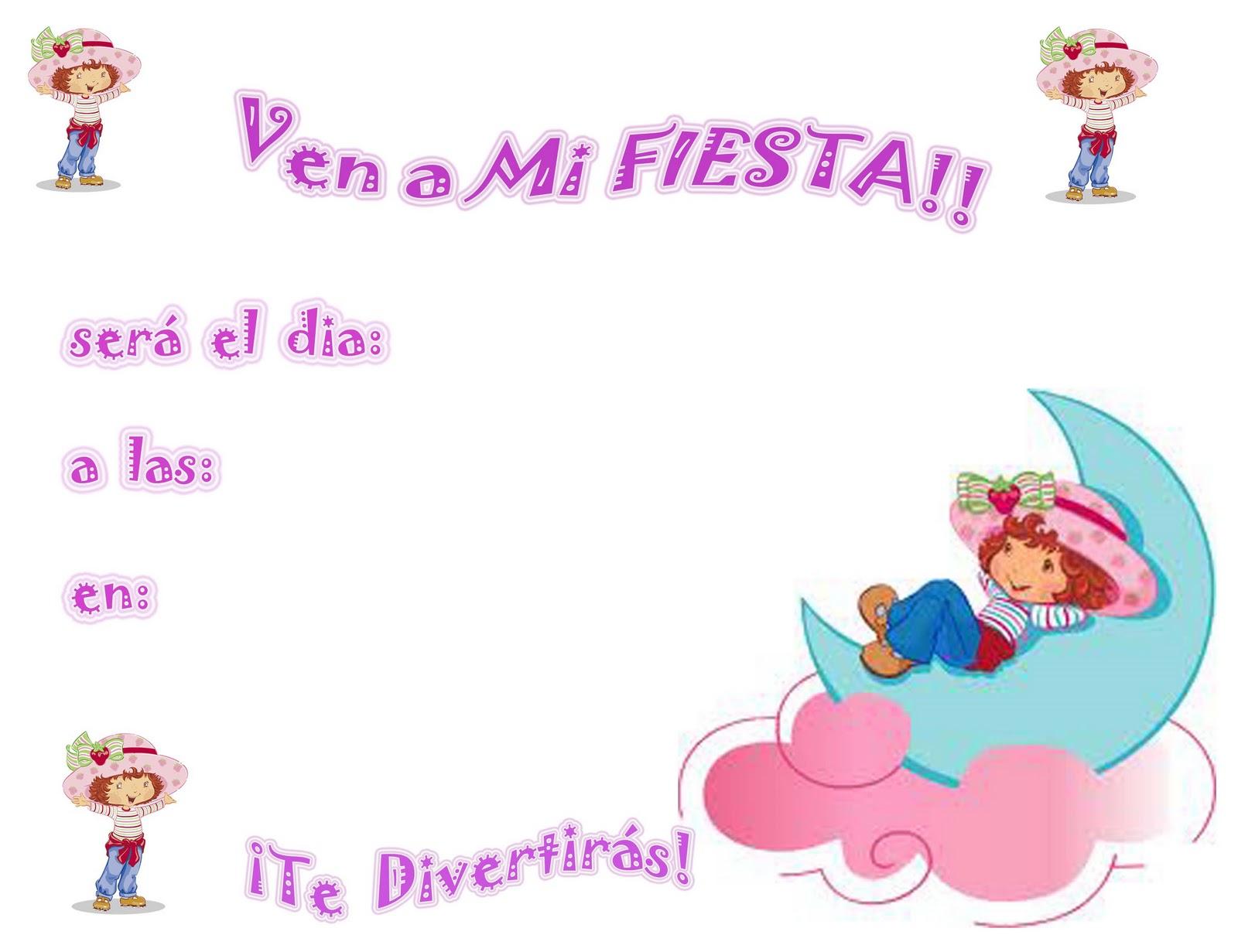 Invitaciónes gratis de rosita fresita bebé - Imagui