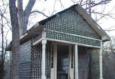 House made from glass bottles