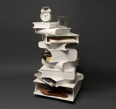 Bookshelf Pile Of Books