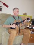 Playing Guitar Hero Christmas Morning
