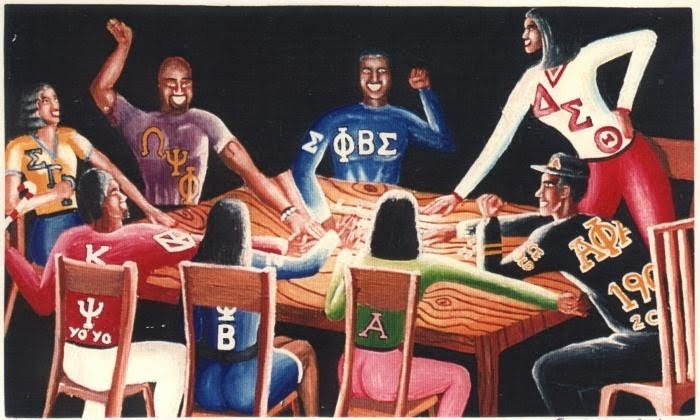 """fraternities and sororities and kappa phi Both fraternities and sororities sometimes omit greek letters from their names other organizations, usually only fraternities, will invent or adopt a word for their fraternity nickname for example, pi kappa alpha goes by """"pike"""" because the word pike sounds similar to pi kappa."""
