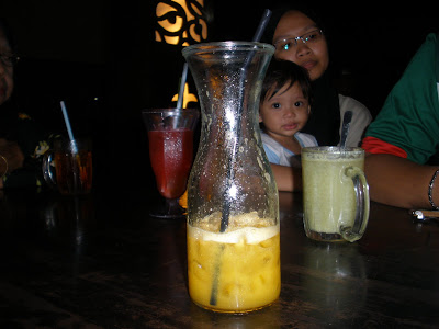 there, my orange juice there. 2glasses :)