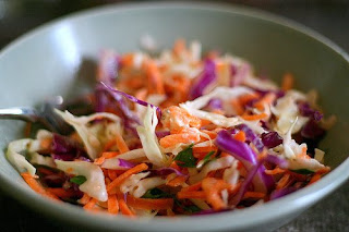 Picture of a bowl of coleslaw