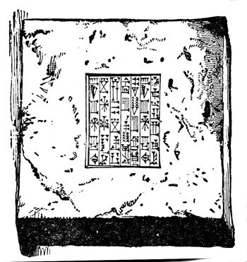 image of cuneiform written on a tablet, from the public domain, sourced from http://karenswhimsy.com/cuneiform-writing.shtm