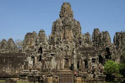 Image of the Bayon temple complex in Angkor Thom.