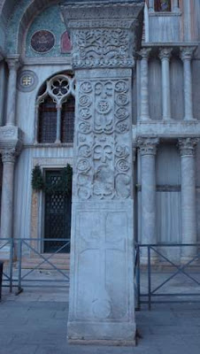 Image of a Syrian column, from in front of the Basilica San Marco, in Venice