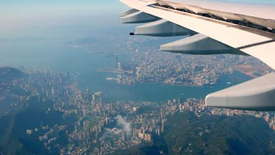 Image of Hong Kong from the air.