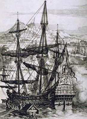 Image of a late 17th century Spanish Galleon taken from the Wikipedia Commons.
