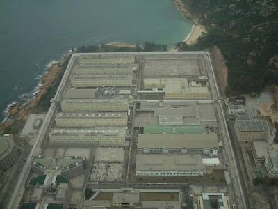 Image of the Stanley Maximum Security Prison in Hong Kong, taken from the air, sourced from the Wikipedia Commons. This image was taken by Author= User:Heli Pauline and she has transferred to the public domain for any purpose.