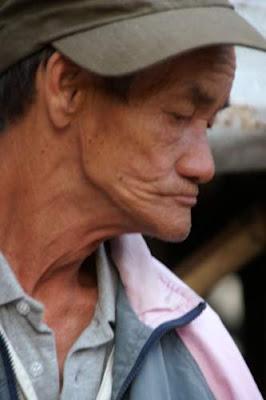 Image of an older man in Hong Kong.