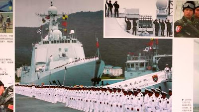 Image of a naval team found in Shenzhen's domestic air terminal, Guangdong Province, China.
