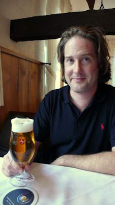 Chris at a roadside inn in Northern Germany, 2009.