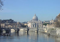 This image is entitled 'Vatican City at large' and shows St. Peter's Basilica. This image was taken by Sébastien Bertrand from Paris, France, on 1 January 2005 and submitted to the Wikimedia Commons. This file is licensed under the Creative Commons Attribution 2.0 License.