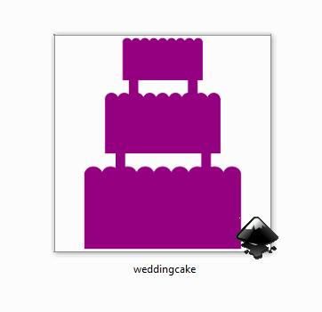 I made this wedding cake SVG for a custom order and we went with a different