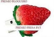 Premio Bloguero Fresa. Un premio de Amistad.