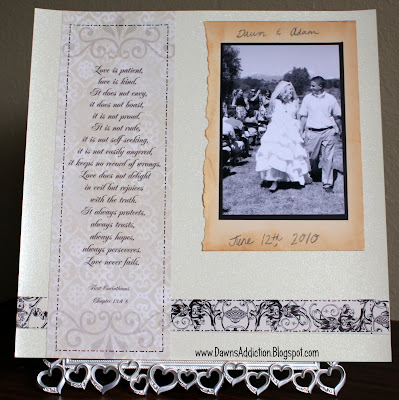 and a little vintage designwise for our wedding scrapbook