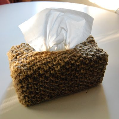 Mrs Sniffles - Knitted Tissue Box Cover