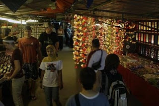 Stall selling unique lamps