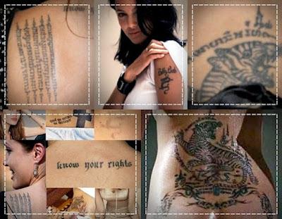 angelina jolie tattoos back. angelina jolie tattoos and