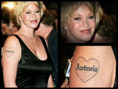 best celebrity tattoos. female celebrity tattoo.