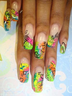 En ocasiones las uñas pueden convertirse en verdaderas obras de arte.