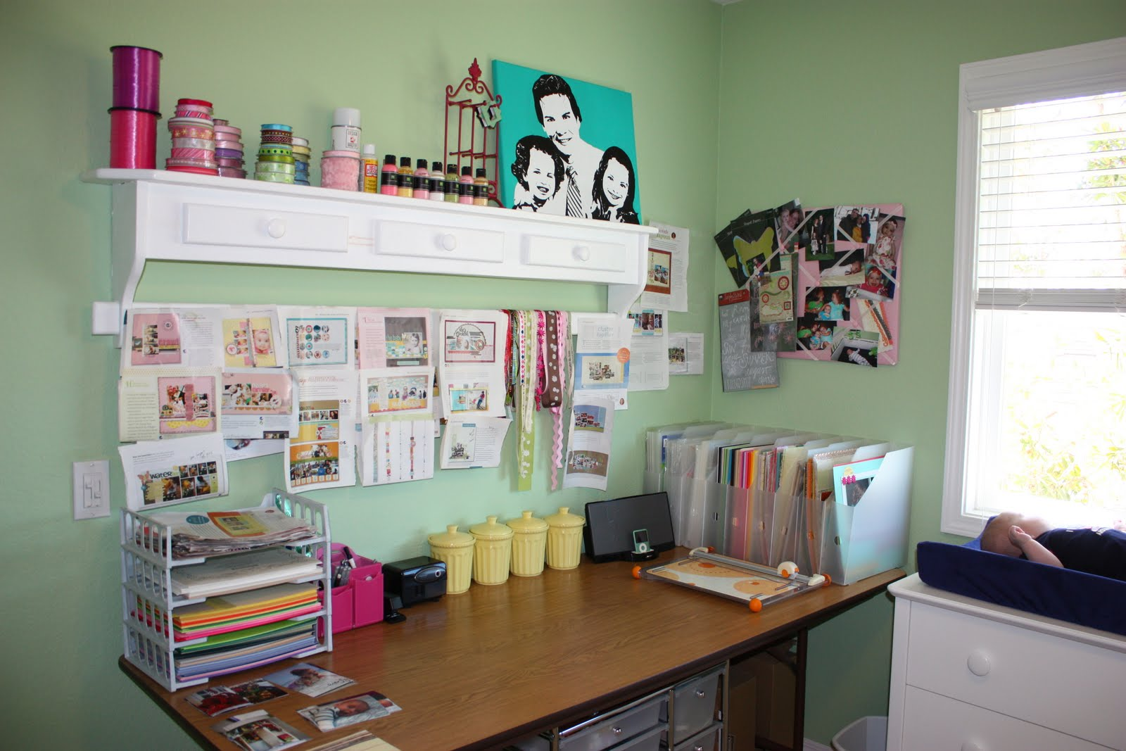Scrapbook room organization - The Sunny Side Up Blog