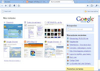 google chrome - pestaña nueva