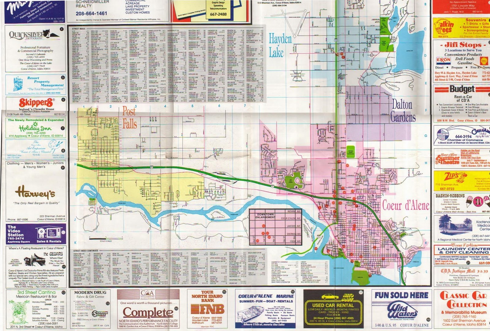 Get Out North Idaho 1987 Coeur D Alene And Vicinity Map