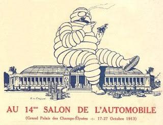 Bibendum au salon de l'auto de 1913