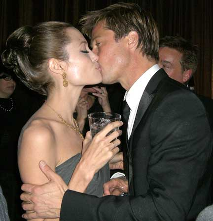 brad pitt and angelina jolie in bed