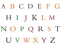 Juega con el abecedario en inglés