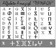 alfabeto amazigh(tifinagh)