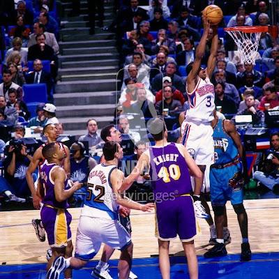 Rookie 76er Allen Iverson in