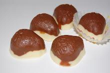 Milk Almond Nib Chocolate Layered with White Chocolate