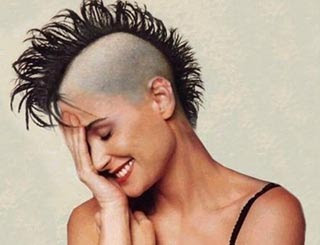 demi moore in mohican cut | funny stuff