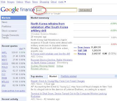Goog stock options chain