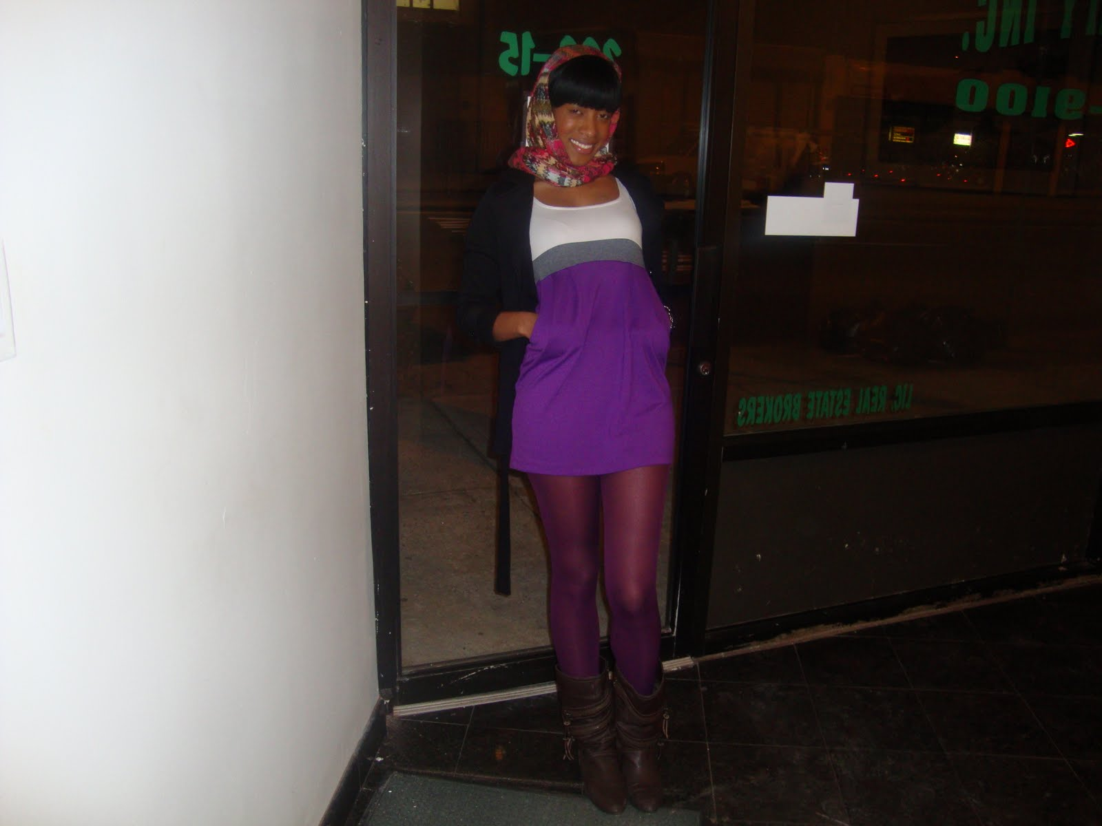 Model wanna be on a budget - Does brown and purple match ...
