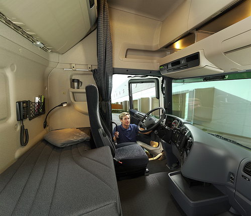 Scania d cembre 2010 for Interieur camion scania
