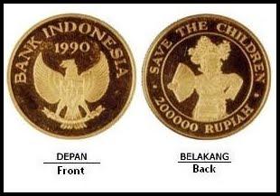 Nama Uang : Uang logam khusus bank indonesia seri save the children