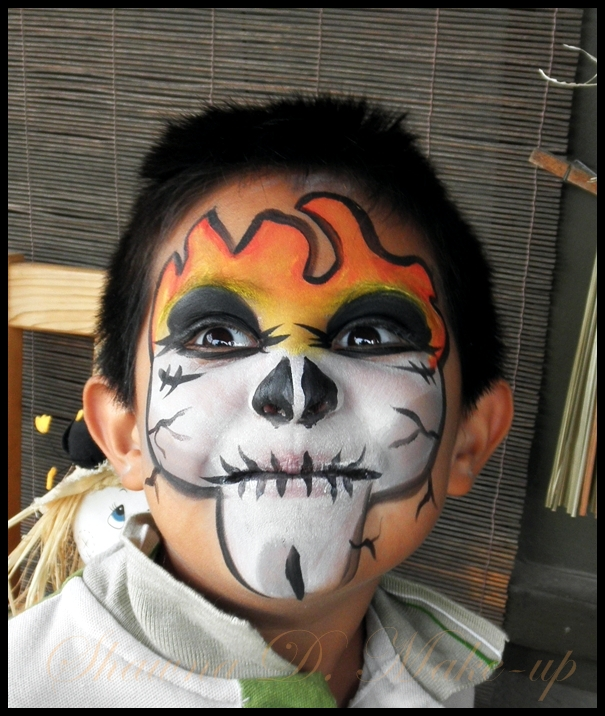 Scary Face Painting Designs: Skeleton Face Painting