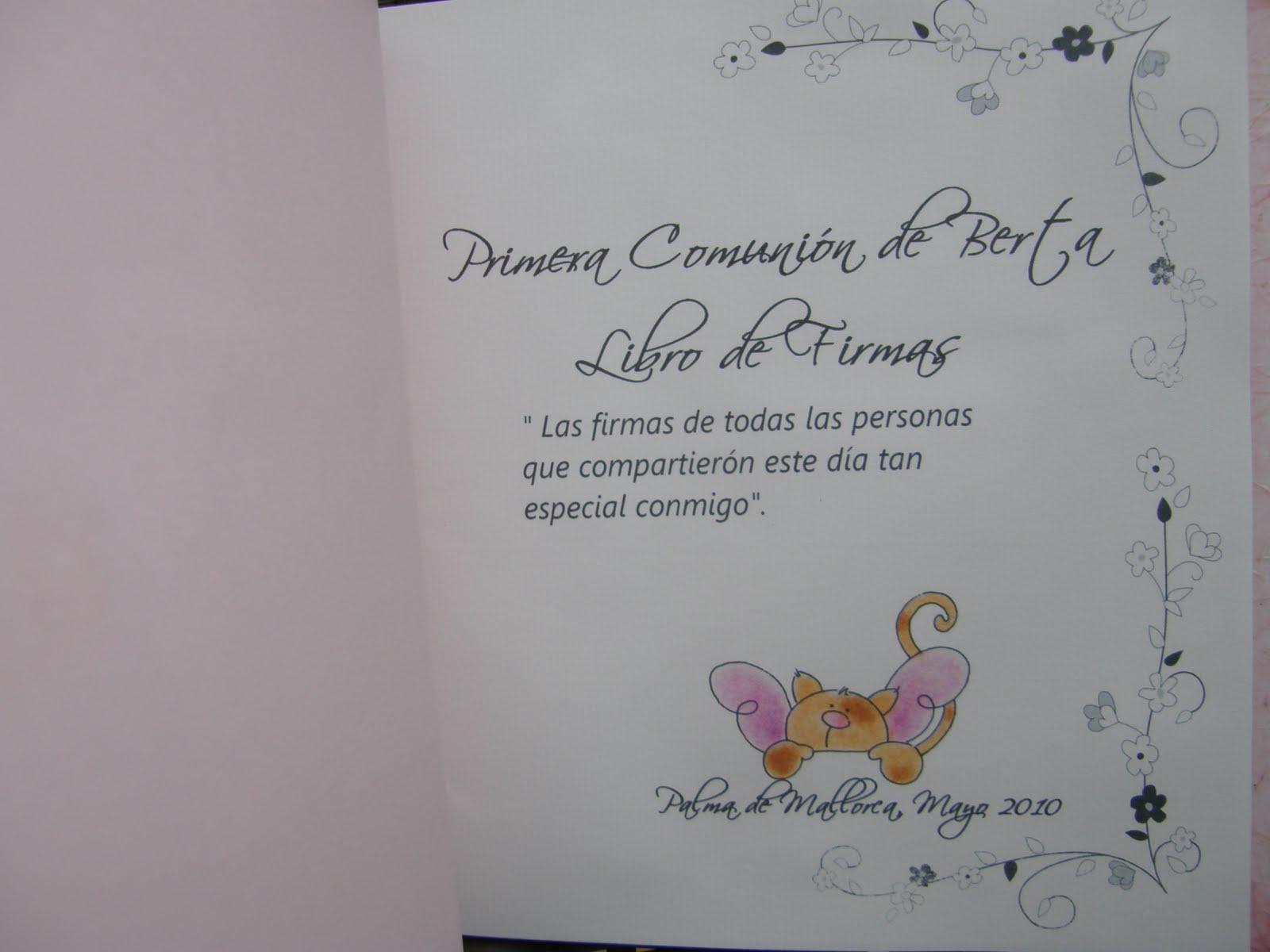 Cositasspb libro de firmas para comuni n for Interior libro de firmas comunion