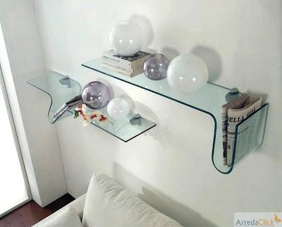 Oppure della mensola in vetro Onda , il cui nome evocativo ne indica ...