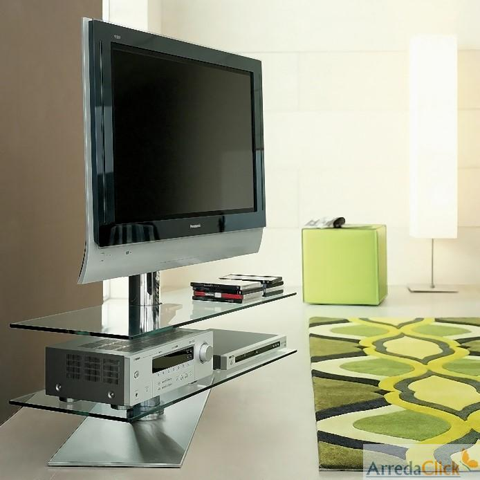 Il porta tv Vision rotondo e girevole irrompe invece nellarredamento ...