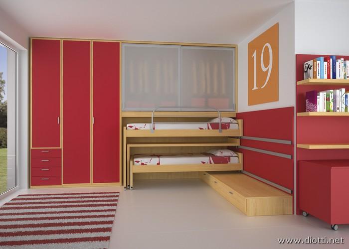 Arredamenti diotti a f il blog su mobili ed arredamento d 39 interni camerette trasformabili - Cameretta poco spazio ...