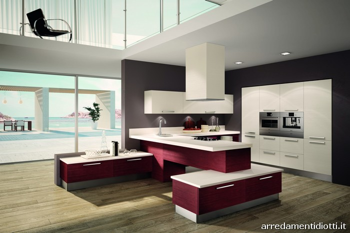 ... ed arredamento dinterni: La cucina si fa soggiorno: il living moderno