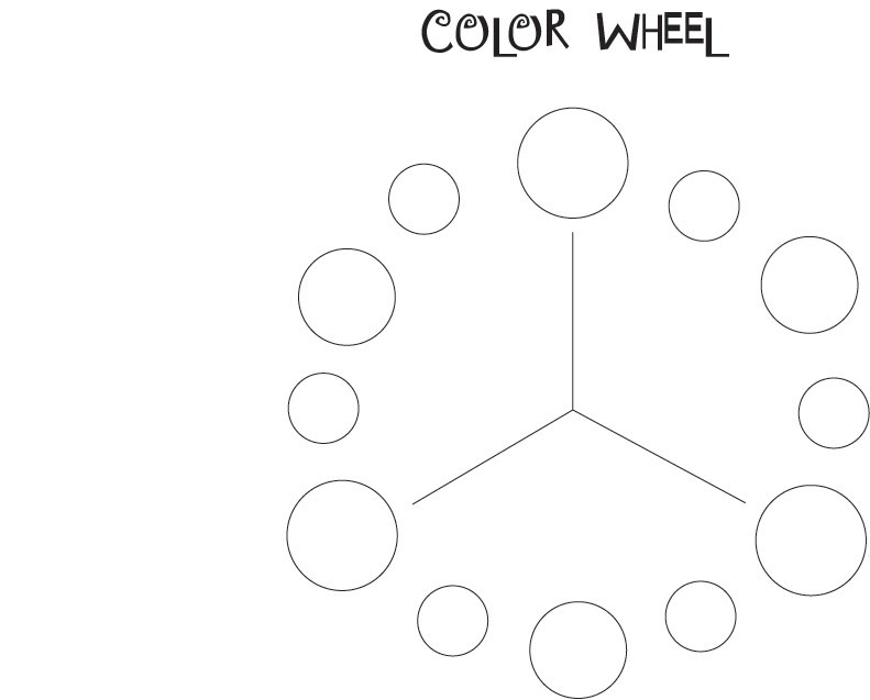 Printable Color Wheel Template Blank Color Wheel Template